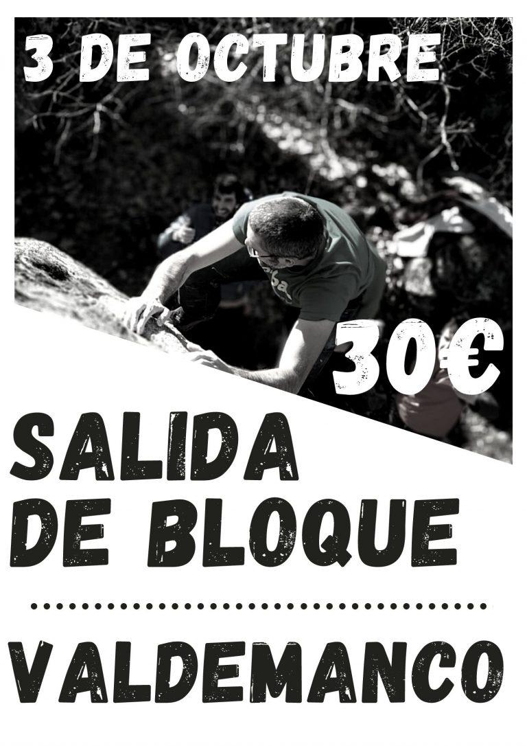 SALIDA DIRIGIDA DE BOULDER A VALDEMANCO